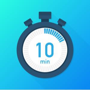タイマーを置いて時間を計測する